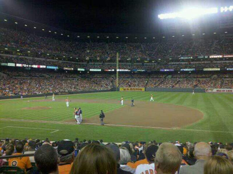 Seating view for Oriole Park at Camden Yards Section 16 Row 22 Seat 14