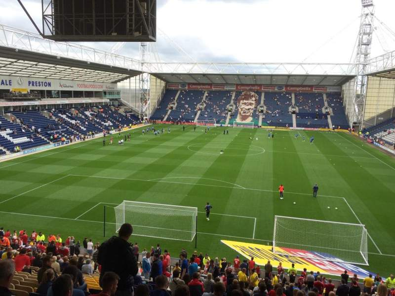 Seating view for Deepdale Section M Row 32 Seat 67