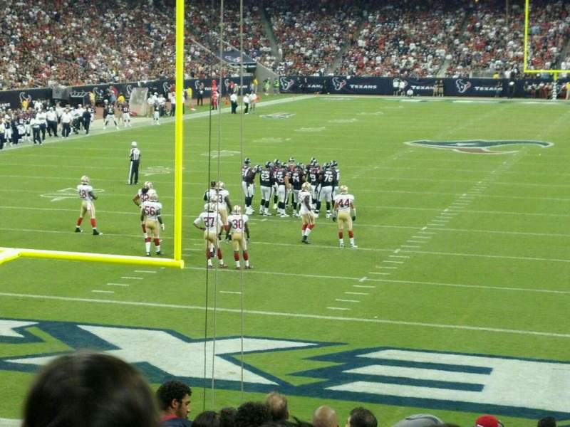 Seating view for NRG Stadium Section 136 Row R Seat 4