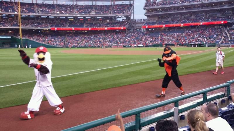 Seating view for Nationals Park Section 111 Row D Seat 8