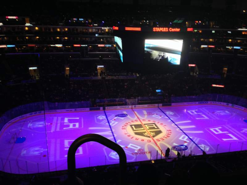 Seating view for Staples Center Section 319 Row 3 Seat 11