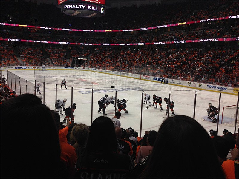 Seating view for Honda Center Section 203 Row M Seat 9