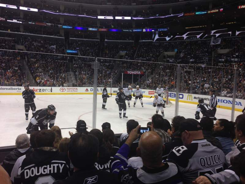 Seating view for Staples Center Section 119 Row 6 Seat 9