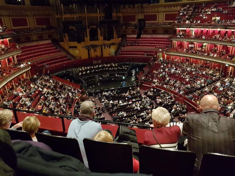 Seating view for Royal Albert Hall Section Rausing Circle S Row 3 Seat 72