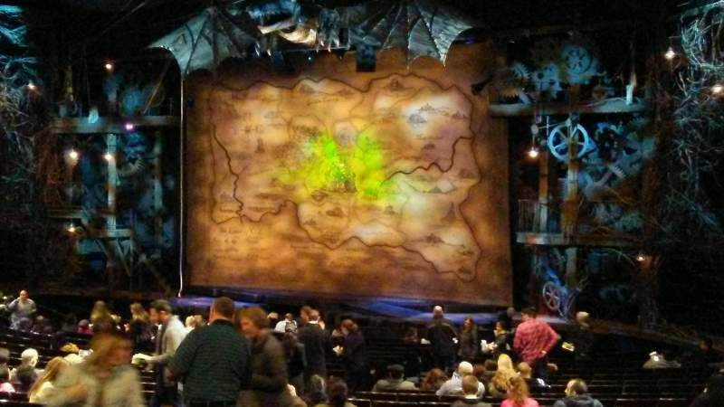 Seating view for Gershwin Theatre Section Orchestra R Row U Seat 20