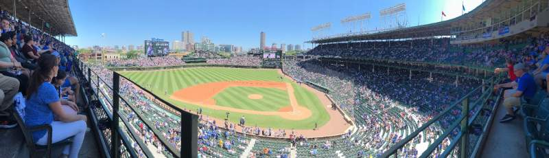 Seating view for Wrigley Field Section 313L Row 1 Seat 1