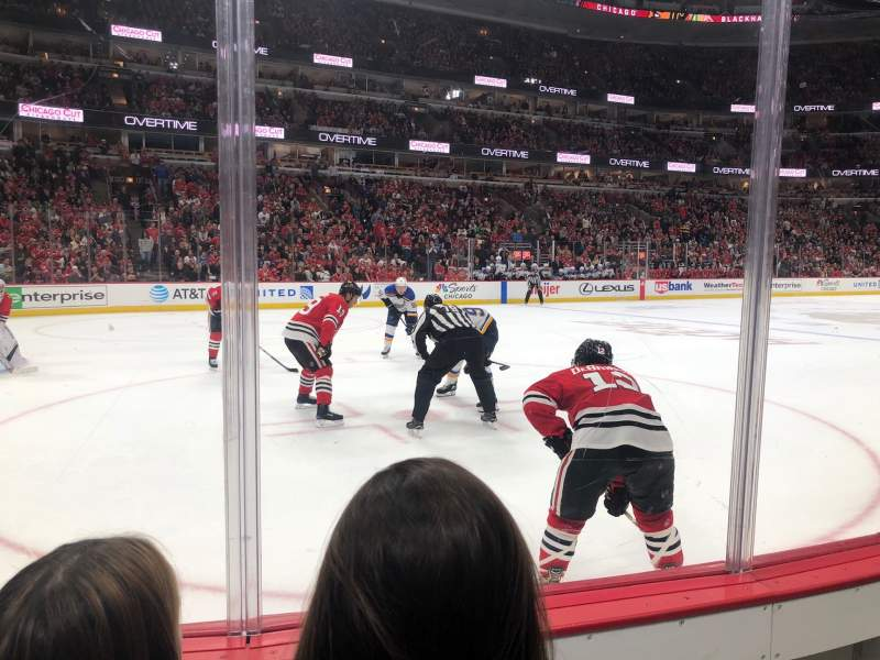 Seating view for United Center Section 114 Row 2 Seat 4