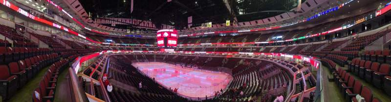 Seating view for United Center Section 213 Row 1 Seat 12
