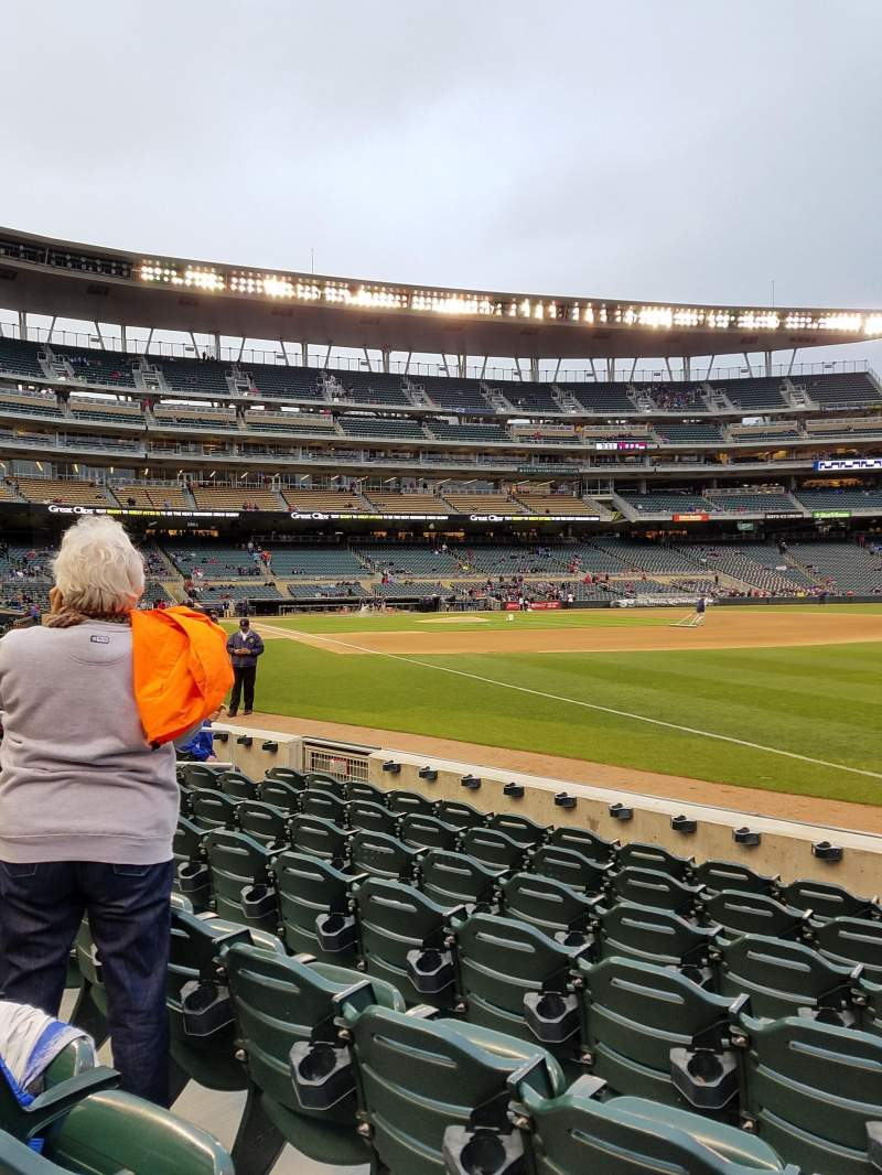 Seating view for Target Field Section 103 Row 6 Seat 10
