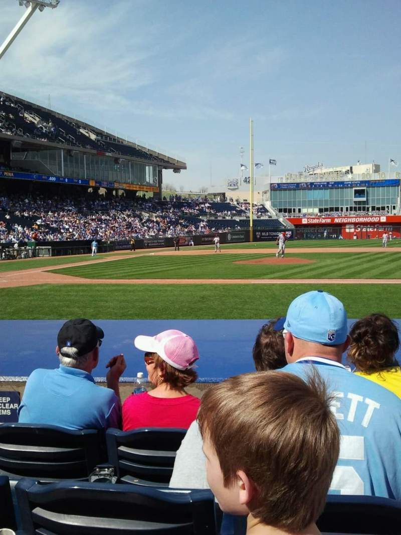 Seating view for Kauffman Stadium Section 135