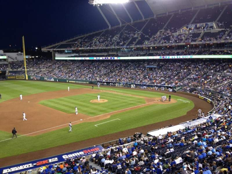 Seating view for Kauffman Stadium Section 303 Row 1 Seat 18