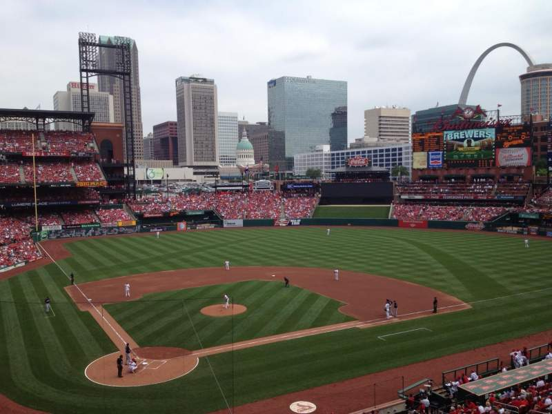 Seating view for Busch Stadium Section 248 Row 1 Seat 16