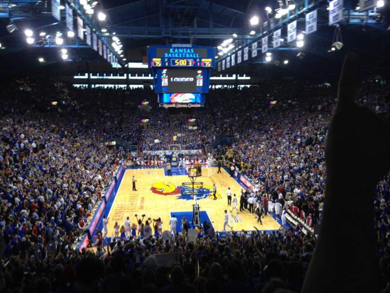 Seating view for Allen Fieldhouse Section 1 Row 18 Seat 8