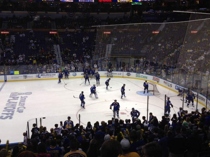 Seating view for Scottrade Center Section 102 Row U Seat 2