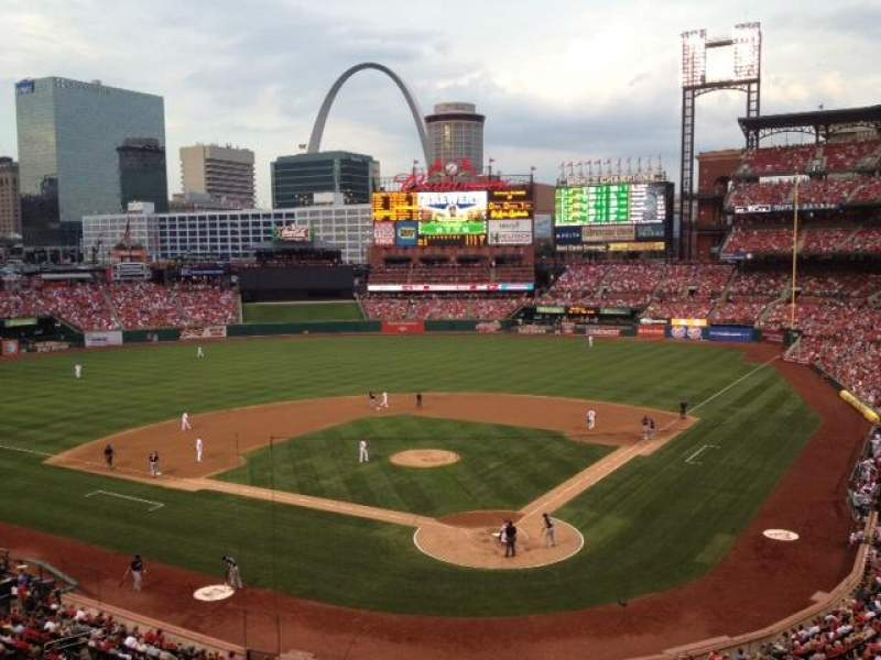 Seating view for Busch Stadium Section 251 Row 1 Seat 15-16
