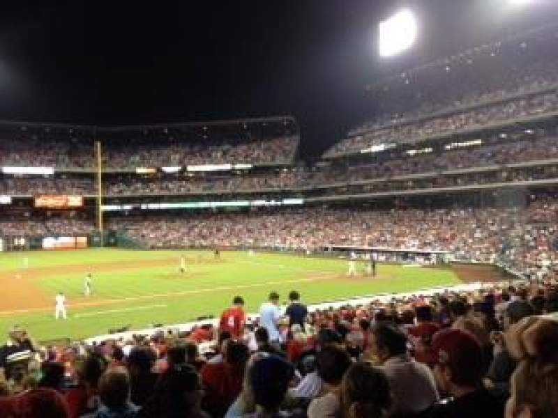 Seating view for Citizens Bank Park Section 134 Row 22