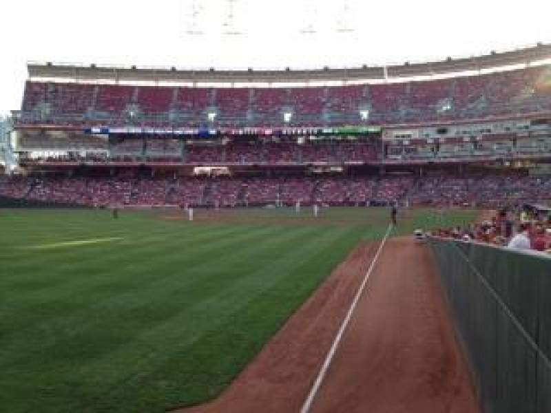 Seating view for Great American Ball Park Section 107 Row T