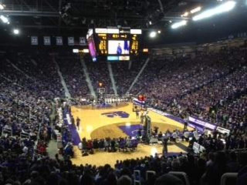 Seating view for Bramlage Coliseum Section 27 Row 22