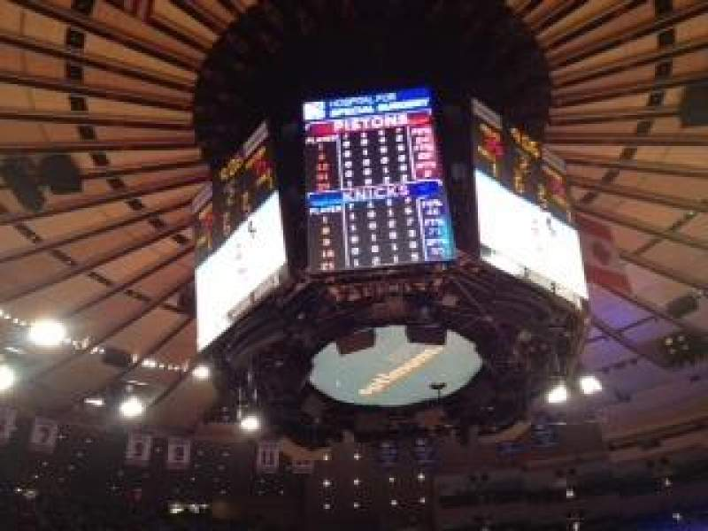 Seating view for Madison Square Garden Section 10 Row 3