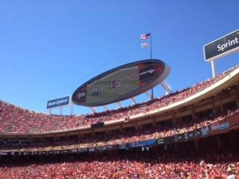 Seating view for Arrowhead Stadium Section 134 Row 26