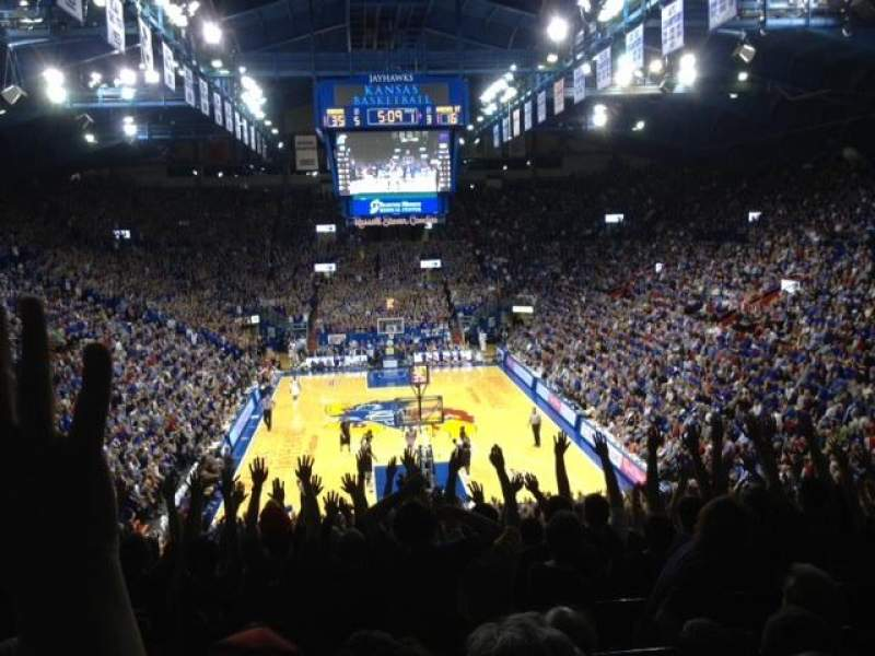 Seating view for Allen Fieldhouse Section 12 Row 18
