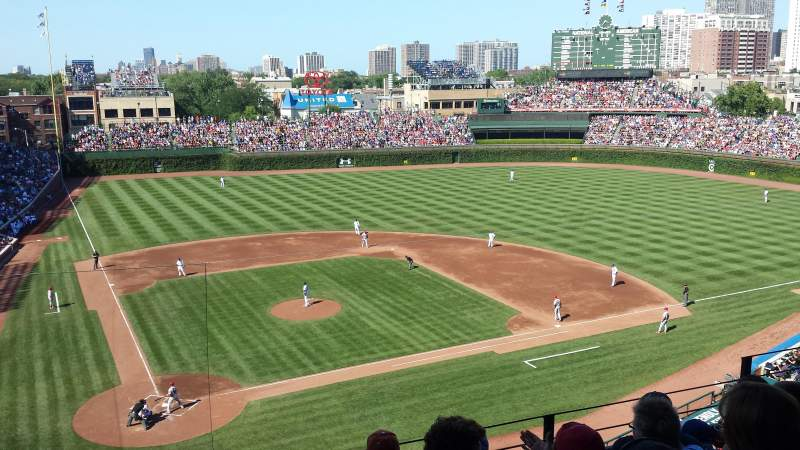 Seating view for Wrigley Field Section 321R Row 5 Seat 8