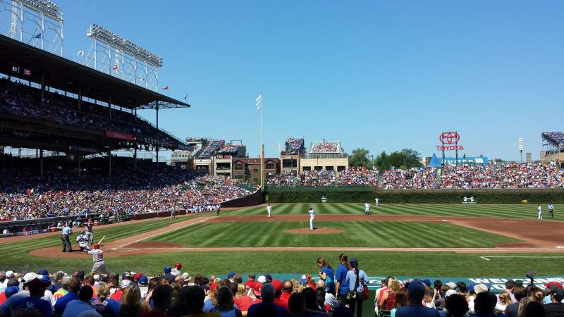 Seating view for Wrigley Field Section 121 Row 5 Seat 2