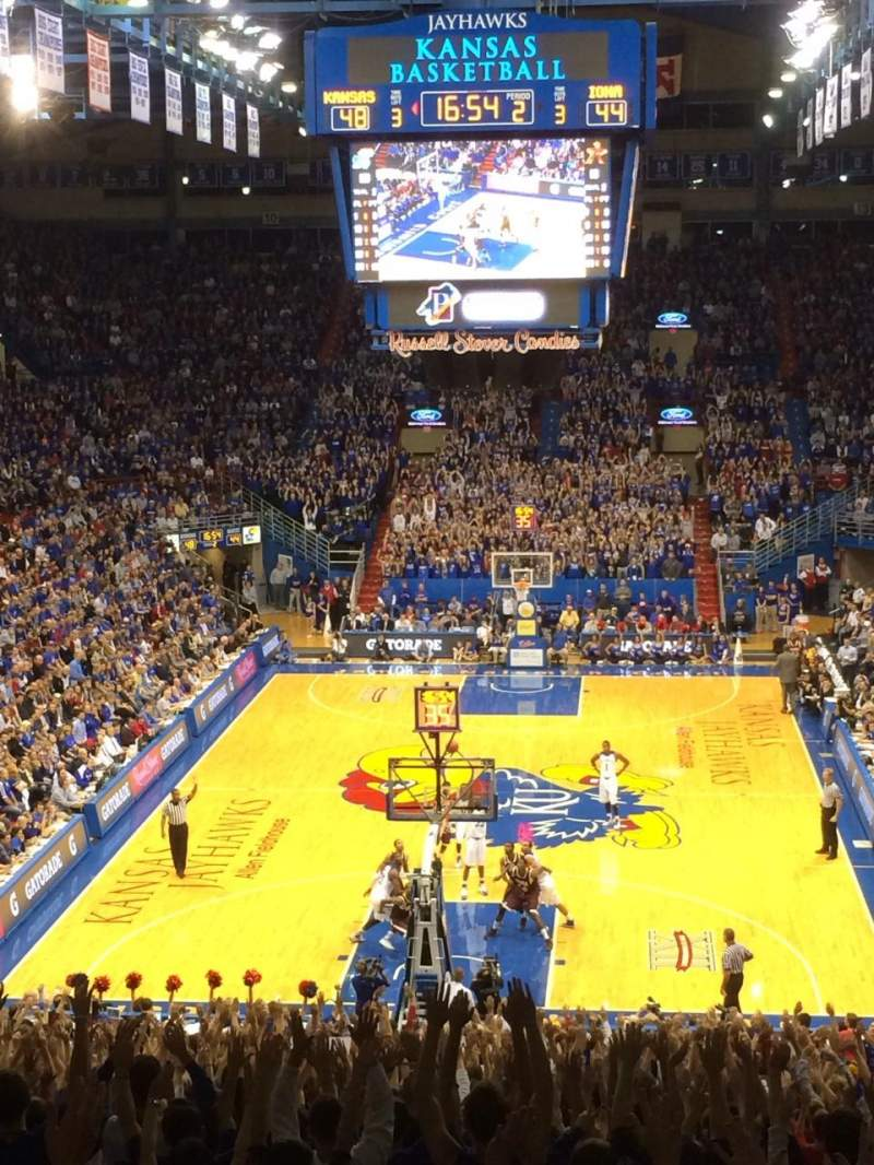 Seating view for Allen Fieldhouse Section 22 Row 22 Seat 17