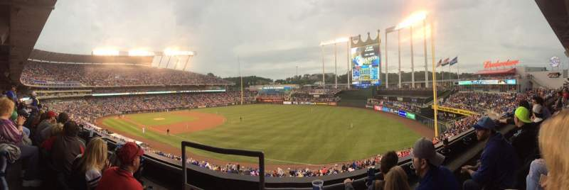 Seating view for Kauffman Stadium Section 324 Row B Seat 1