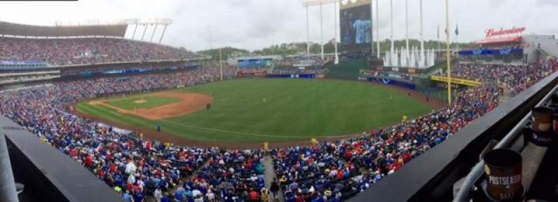 Seating view for Kauffman Stadium Section 323 Row A Seat 1