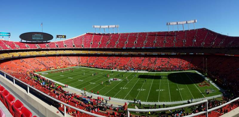 Seating view for Arrowhead Stadium Section 322 Row 3 Seat 2