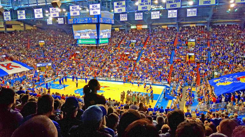 Seating view for Allen Fieldhouse Section 15 Row 25 Seat 9