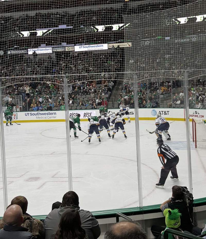 Seating view for American Airlines Center Section 104 Row G Seat 1