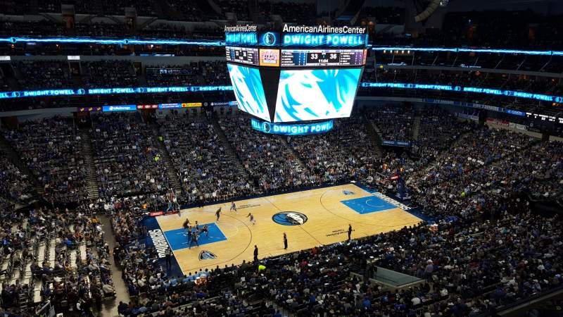Seating view for American Airlines Center Section 329 Row A Seat 2