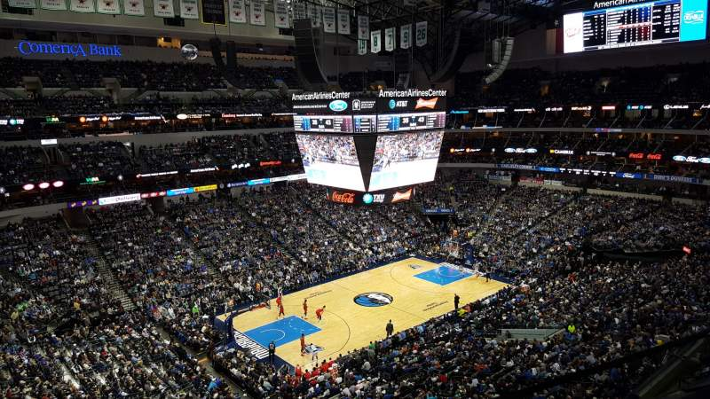 Seating view for American Airlines Center Section 330 Row A Seat 6