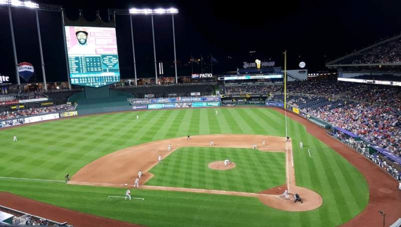 Seating view for Kauffman Stadium Section 414 Row A Seat 4