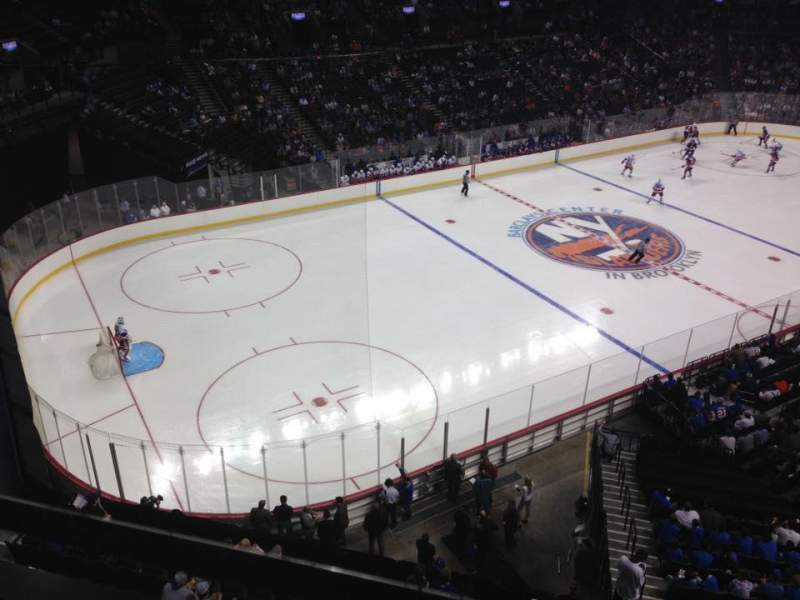 Seating view for Barclays Center Section 228 Row 1 Seat 22