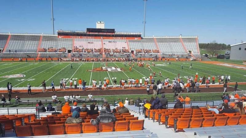 Seating view for Doyt Perry Stadium Section 14 Row 27 Seat 4
