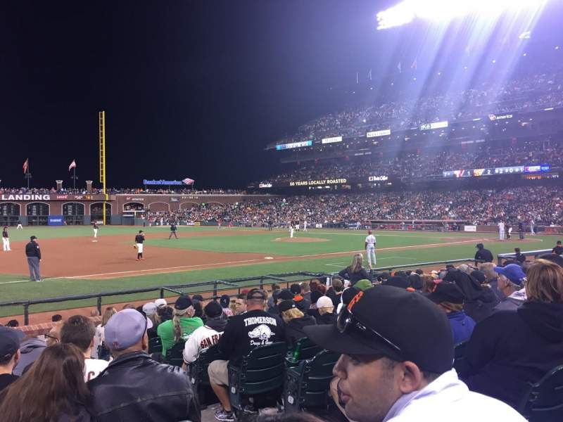 Seating view for AT&T Park Section 126 Row 11 Seat 2