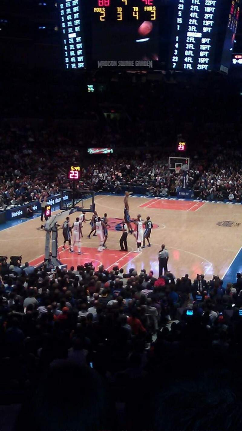 Madison Square Garden Section 114 Row F Seat 13 New York Knicks Vs Orlando Magic Shared By
