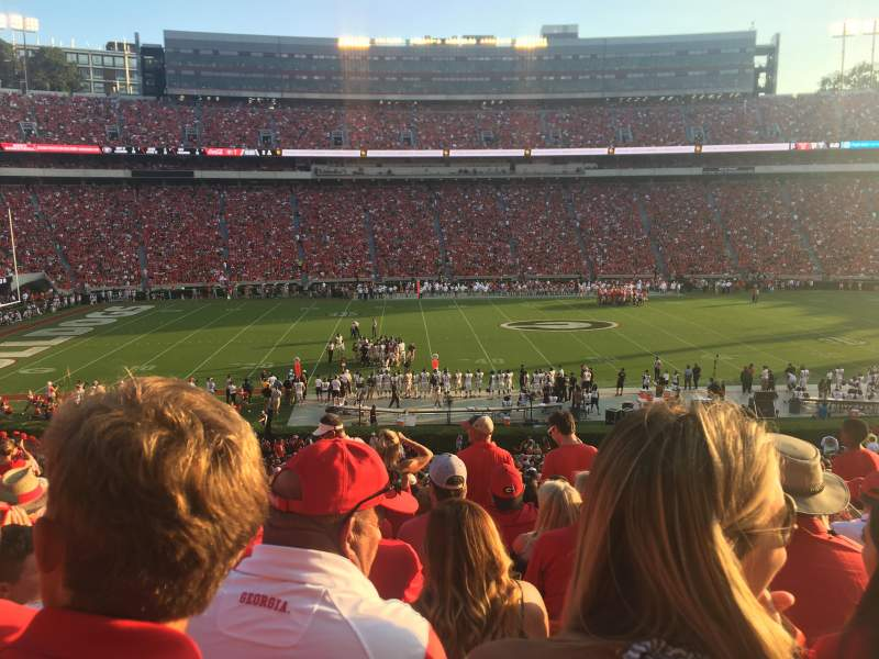 Seating view for Sanford Stadium Section 108 Row 45 Seat 13