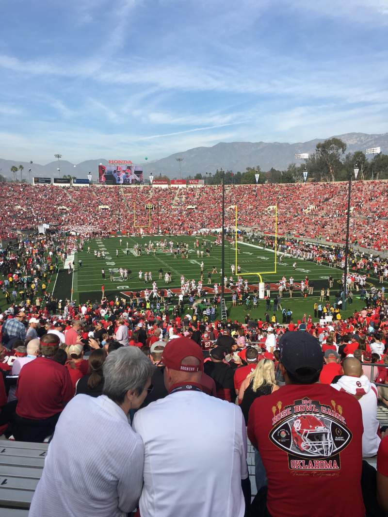 Rose Bowl Section 24 H Row 50 Seat 121 Oklahoma Sooners Vs