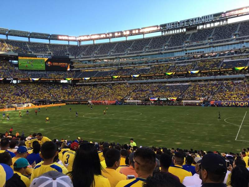 Seating view for MetLife Stadium Section 110 Row 23 Seat 7