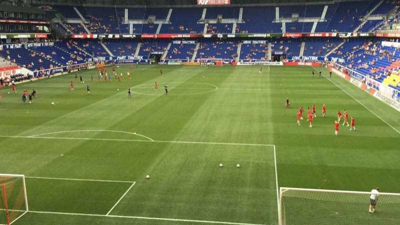 Seating view for Red Bull Arena Section 233 Row 1 Seat 13