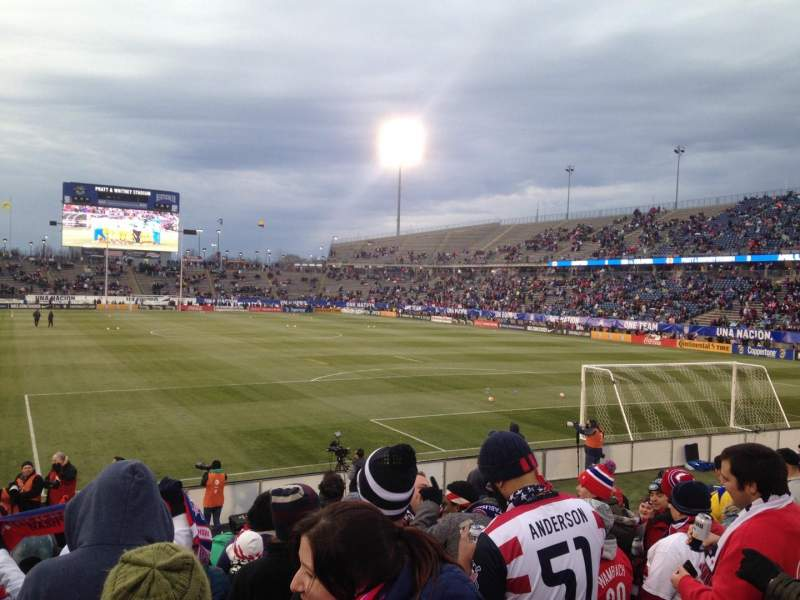 Seating view for Rentschler Field Section 109