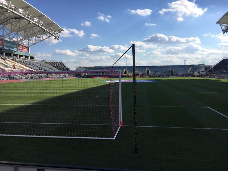 Seating view for Talen Energy Stadium Section 117 Row A Seat 1