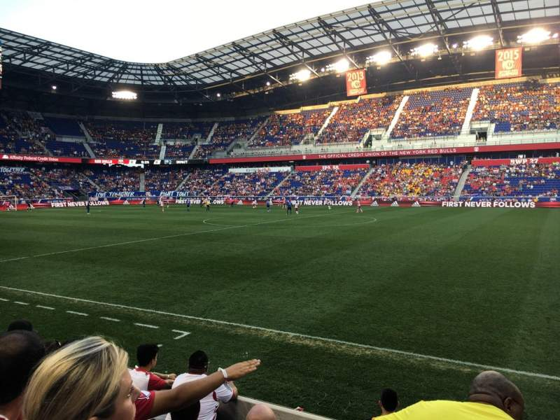 Seating view for Red Bull Arena (New Jersey) Section 108 Row 5 Seat 13