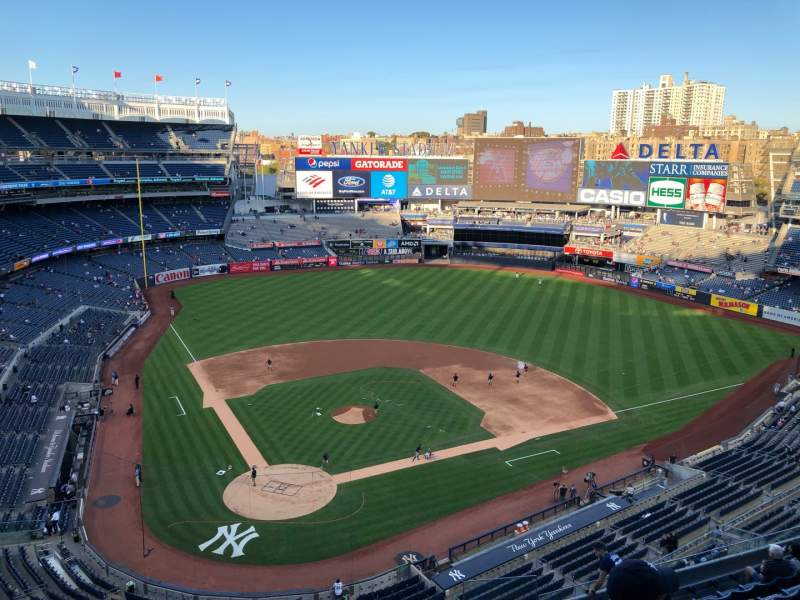 Seating view for Yankee Stadium Section 419 Row 1 Seat 10