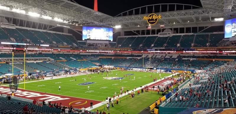 Seating view for Hard Rock Stadium Section 227 Row 6