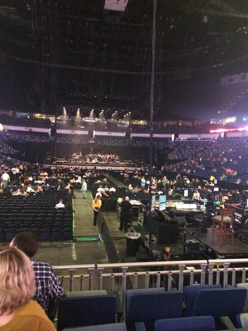 Smoothie King Center, section: 107, row: 12, seat: 10